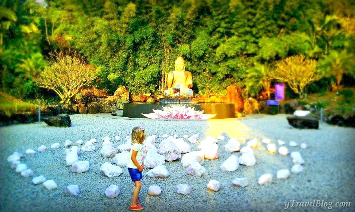 Crystal Castle at Mullumbimby near Byron Bay, NSW  - one of our #hooroo #SecretSpots in Australia. Magical gardens, mystical statues, amazing crystals, exquisite jewellery, lotus cafe, aura readings, and awesome kiddies playground.