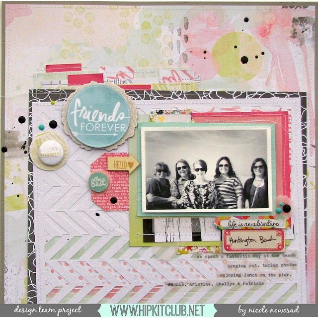 Our team member @nicolenowosad is up on our blog with this amazing LO created with our February kits. I love how her B&W photo add a beautiful contrast with the soft colors she used  @websterspages @wermemorykeepers @cratepaper @amytangerine @hkswapp @shop.evalicious