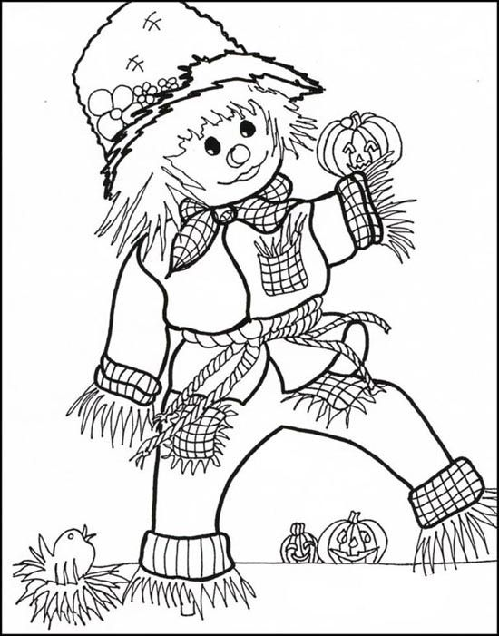 Coloring Page World Halloween Coloring Pinterest Scarecrows