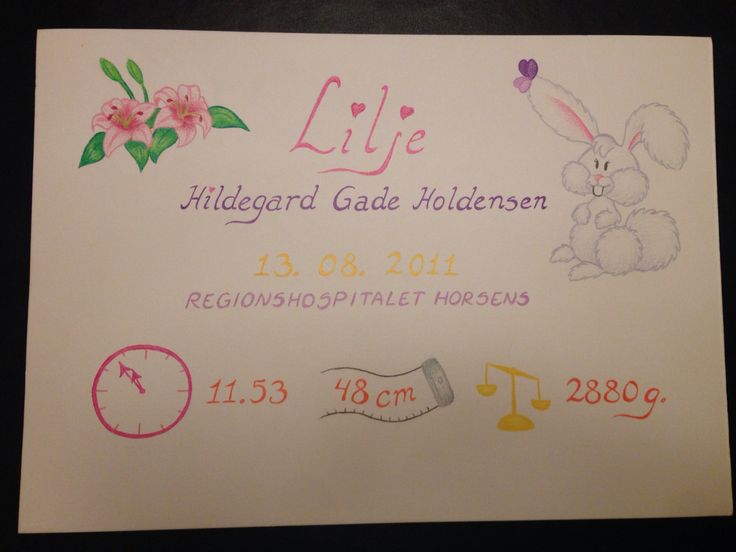 En fin fødselstavle til Lilje, der selv har valgt sit yndlingsdyr.