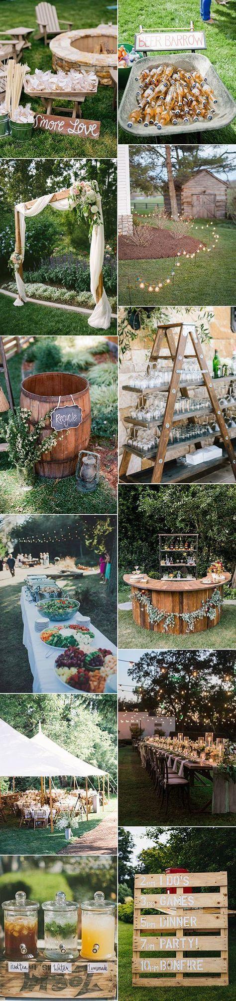 trending rustic backyard wedding ideas for 2017 #WeddingIdeasTheme #MexicanWeddi…