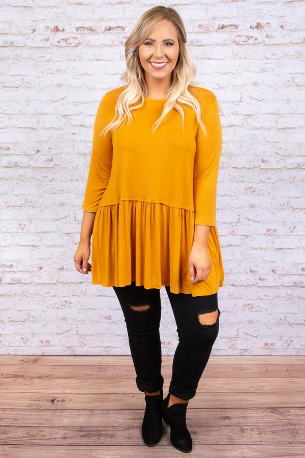 51a2f44772d No More Drama Tunic, Ash Mustard in 2018 | Be Bold | Pinterest | Tunic,  Chic and Clothes