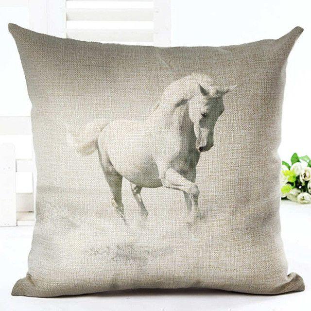 Art Horses Series Cushion Horse Throw Pillow