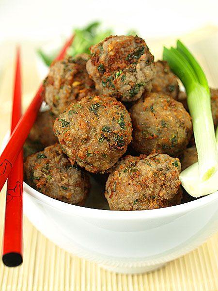 Tajskie+kuleczki+mięsne:+Tajskie+kuleczki+mięsne+to+pomysł+na+błyskawiczną,+ale+szybką+przekąskę....