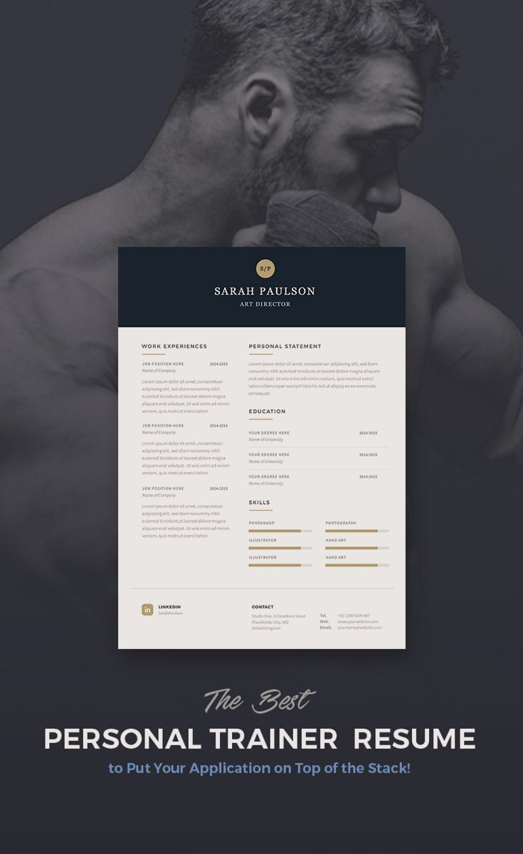 The best resume for personal trainer