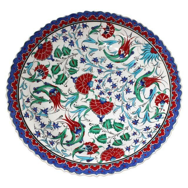 Image of Multicolor Handmade Turkish Plate