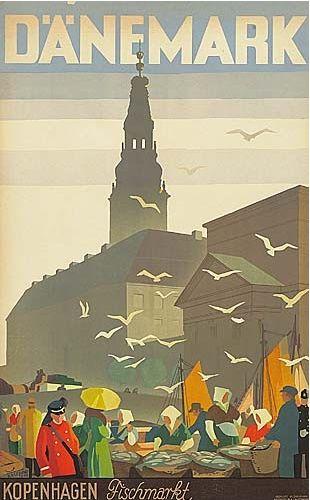 DENMARK - Copenhagen - Thor Bögelund (1890-1959), 1938, Danemark, Andreasen & Lachmann, Kopenhagen.  #Vintage #Travel