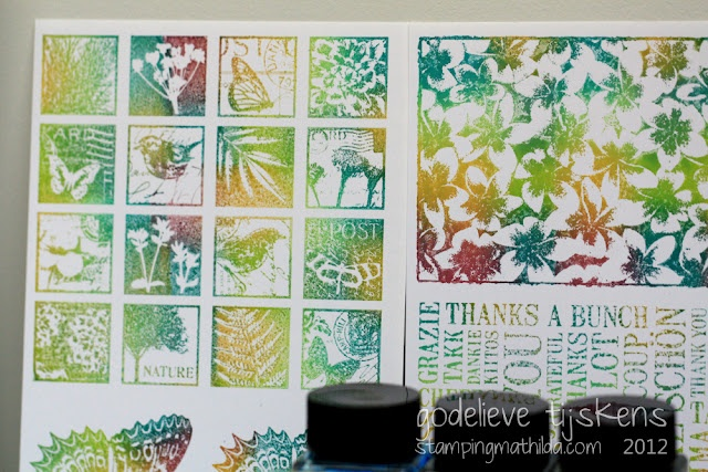 Stamping with ecoline