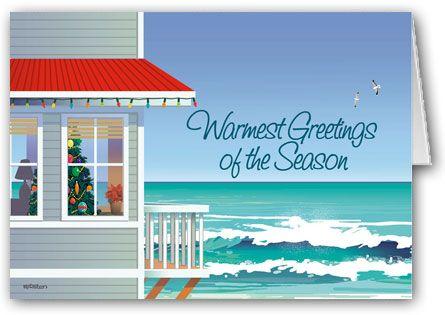 Beach House Boxed Christmas Cards Coastal Christmas