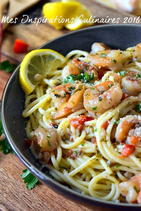 spaghetti aux crevettes sauce au citron 1