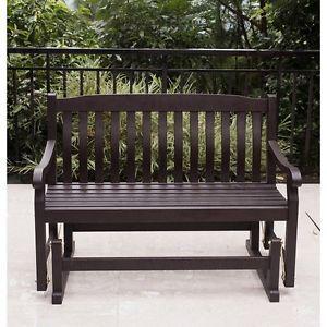 patio glider bench outdoor furniture porch wood garden deck yard loveseat - Garden Furniture Gliders