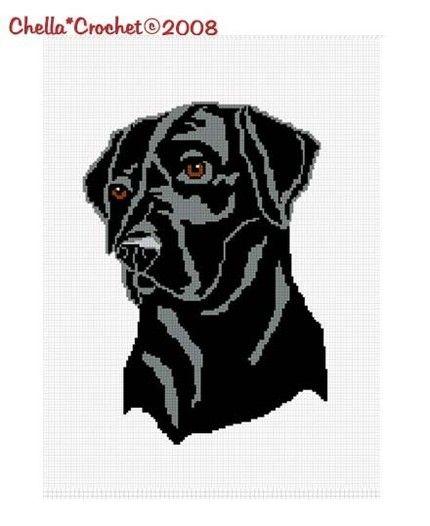 SALE see SHOP for details Chella Crochet Black Lab Labrador Dog Afghan Crochet Pattern Graph Chart .PDF | chellacrochet - Patterns on ArtFire