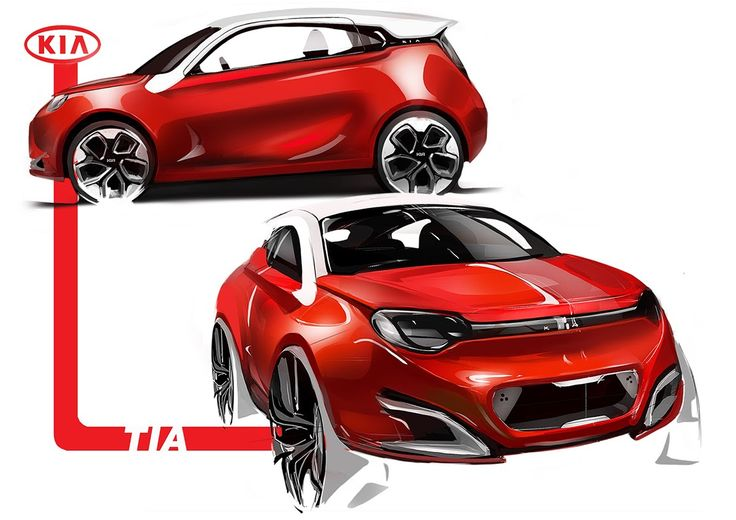 Car sketch on Behance
