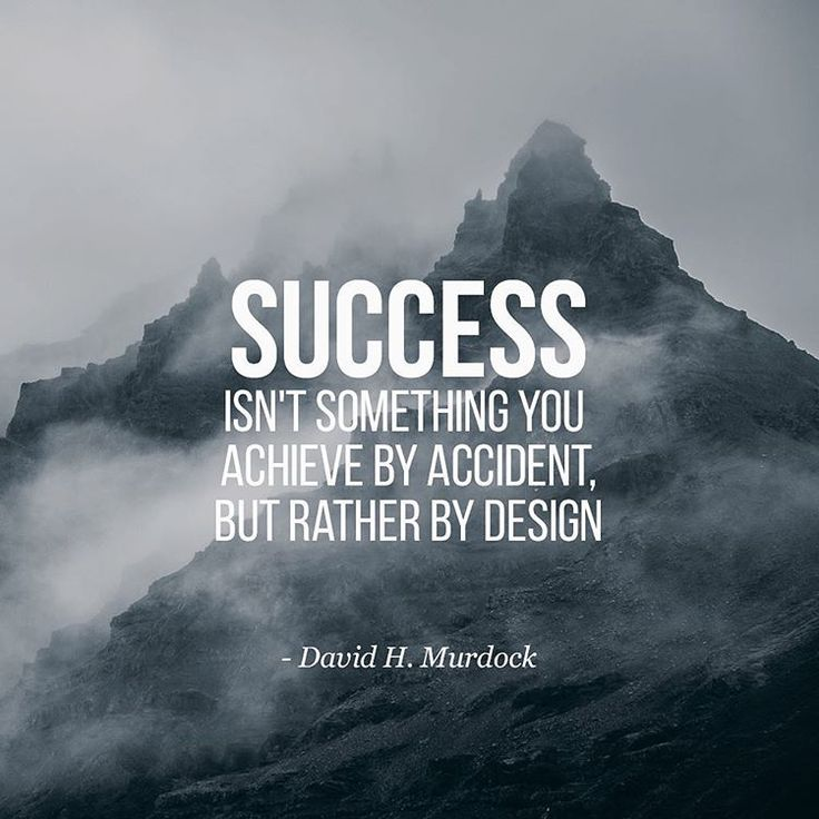 Strive for success in design.