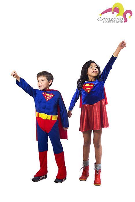 Tenemos los disfraces de los superhéroes para niños y niñas.