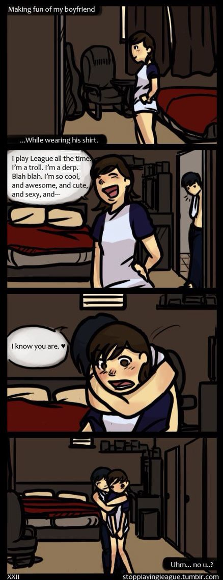 Hehe (I think I'm in love with a derp, comic) me and doll