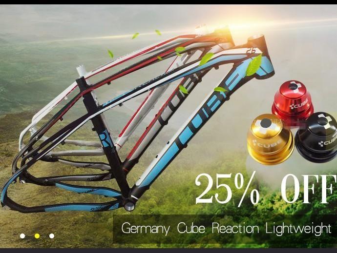 [Visit to Buy] new model Aluminum mountain bike frame/15 models (Germany CUBE REACTION) 26 /27.5 / 29 inch lightweight cross-country bike racks #Advertisement