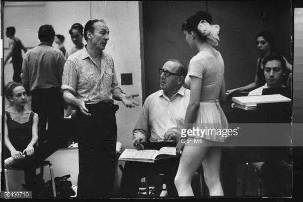 News Photo : Choreographer George Balanchine discussing...