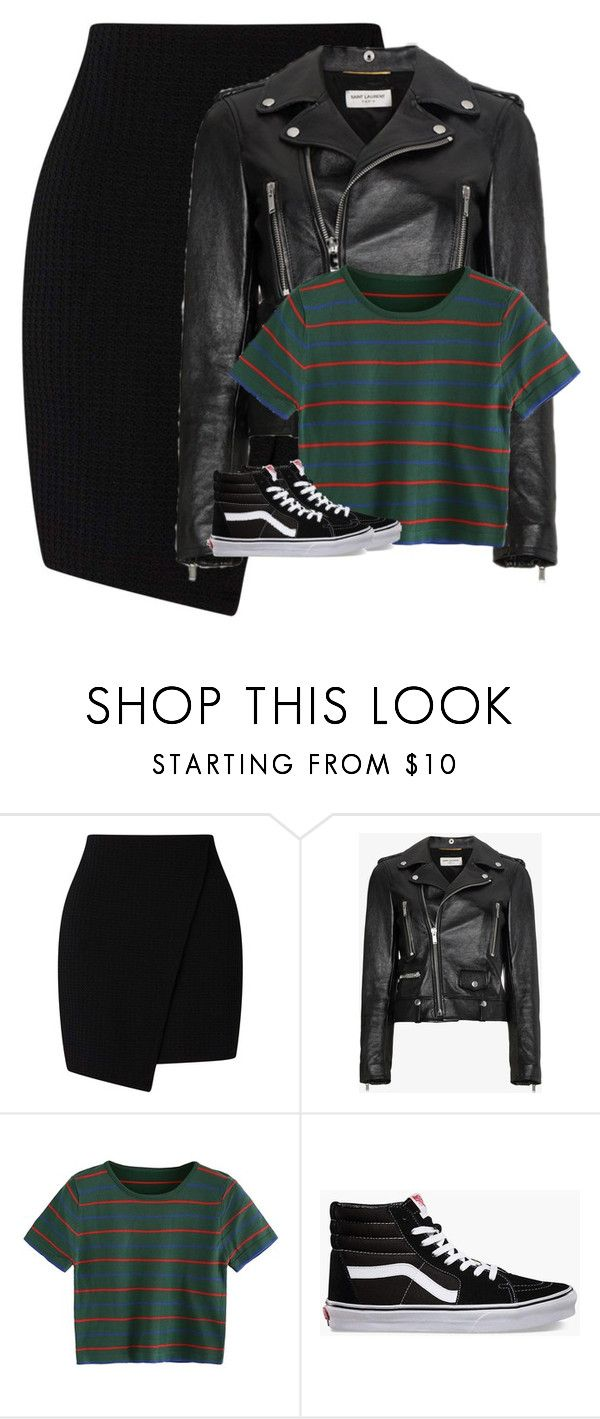 """Sin título #1892"" by xrocsix ❤ liked on Polyvore featuring Yves Saint Laurent and Vans"