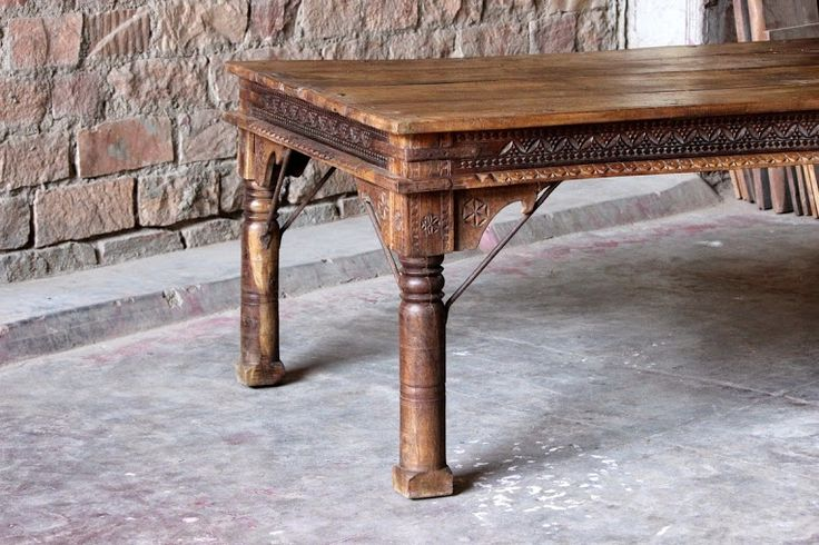 This is a close up of our Kalinda 'Subtle Carving' Dining Table - see http://www.littletreefurniture.co.uk/kalinda-subtle-carving-rustic-dining-table.html for more photos!