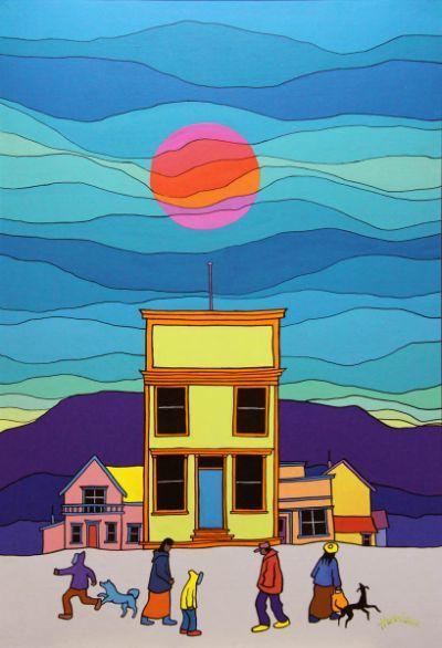Ted Harrison, 'The Dawson House'