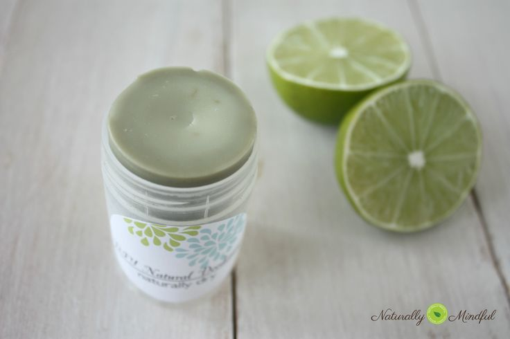 DIY Natural Deodorant Author: Naturally Mindful   Ingredients      .55 oz of grated beeswax, that's about 3-31/2 pack tbs     ½ tsp Shae butter     1 tbs virgin coconut oil     1 tsp bentonite clay     1 tsp arrowroot powder     Pure lime essential oil, about 20 drops     Pure tangerine essential oil (optional)  .