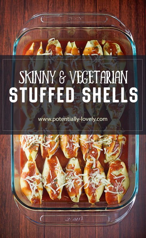 Skinny Stuffed Shells - 7 Weight Watchers Smart Points | potentilly-lovely.com