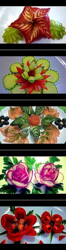 Украшения из овощей и фруктов