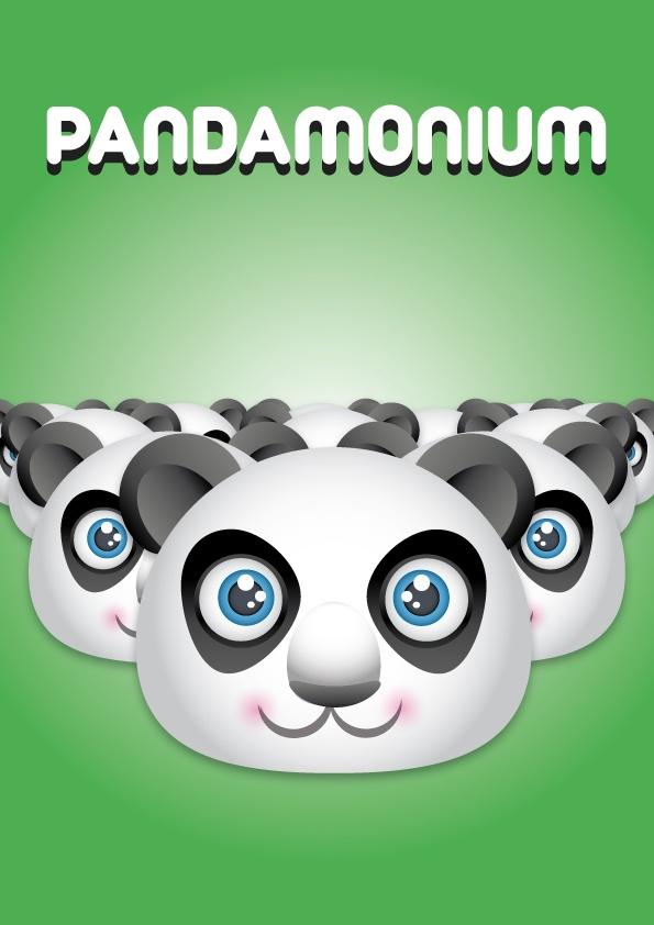 Pandamonium - David Archbold  #graphicdesign #design #art #digital #aminated #logo
