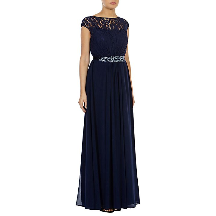 Buy Coast Lori Lee Lace Maxi Dress, Navy, 6 Online at johnlewis.com