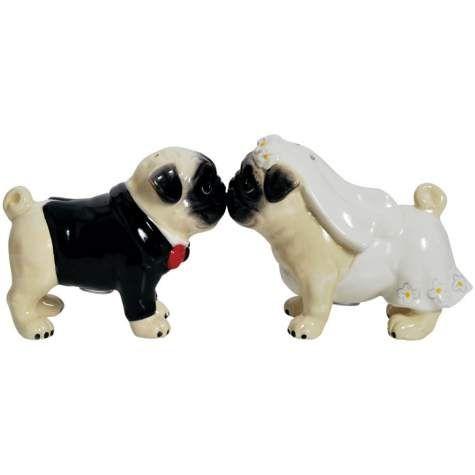 Pug Dogs Wedding Cake Topper