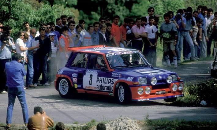ra Jean Ragnotti - Gilles Thimonier-Renault 5 Maxi Turbo Gr.B-Renault Elf…