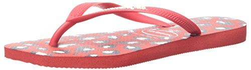 Havaianas Womens Slim Animals Aus Flip Flop Ruby Red 37 BR78 M US *** Check out this great product.