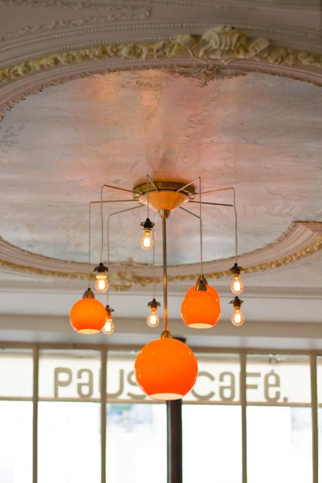 Ceiling of the Pause Cafe in Paris