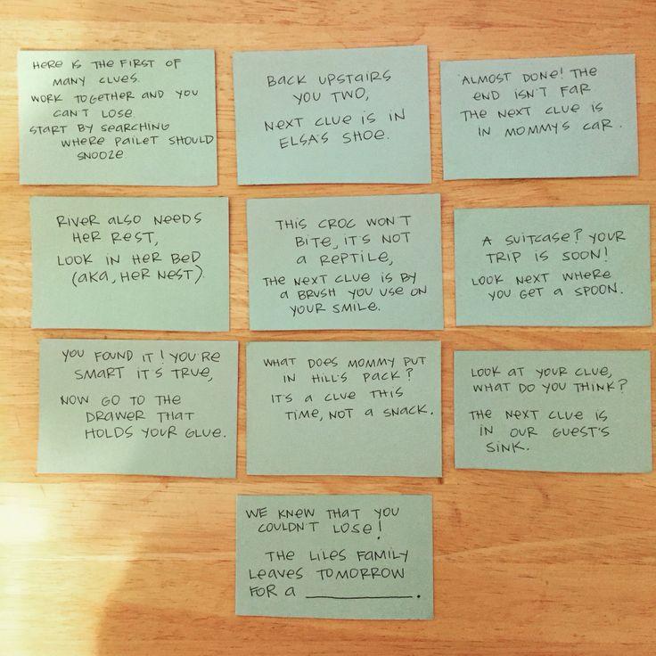 Best 25+ Scavenger Hunt Clues Ideas On Pinterest