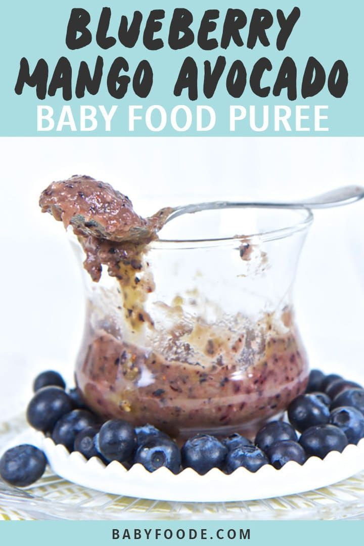 Blueberry, Mango + Avocado Baby Food Puree