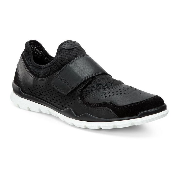 Smart slip-on with a velcro closure detail that will keep you feet cool and  comfortable all summer. Get the ECCO Lynx now from ECCO Shoes in Black /  Black ...