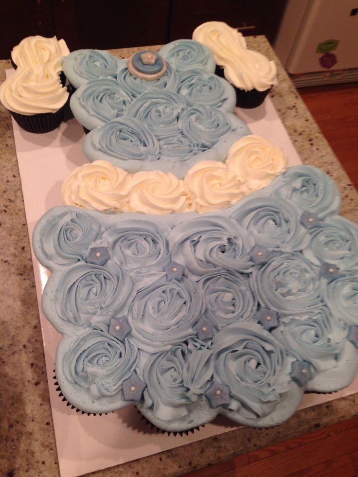 Cinderella Dress Cupcake Cake