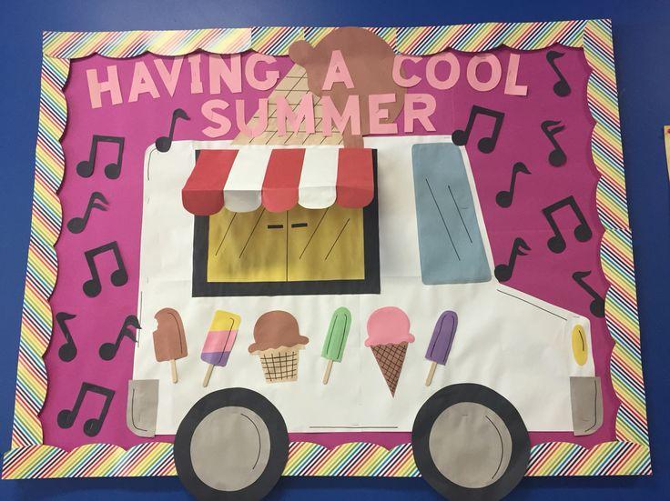 Having a cool summer! Bulletin board ice cream
