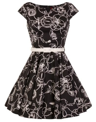 Hell Bunny is new in at Atom Retro. Fab vintage and retro themed dresses including this stunning 'Mistrel' nautical themed compass and anchor print summer dress: https://www.atomretro.com/29400 #hellbunny #hellbunnyclothing #50s #60s #1950s #1950sfashion #1960s #vintagestyle #retrofashion #atomretro #womenswear #womensfashion