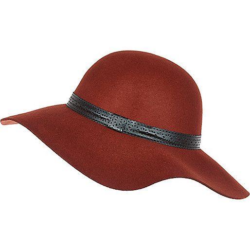 Chapeau mou rouge rouille