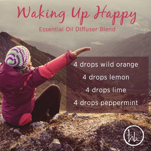 Waking up happy - wild orange, lemon, lime and peppermint