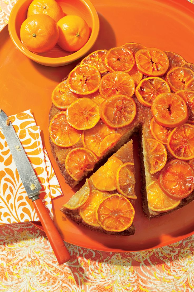 Clementine Upside-Down Cake Recipe. Southern Living February 2017