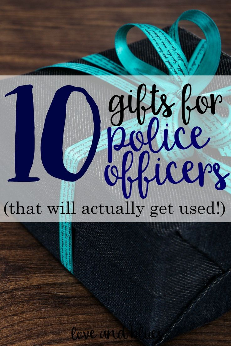 This is a great list of gift ideas for police officers! I'm obsessed with #8. I might have to get one for myself....