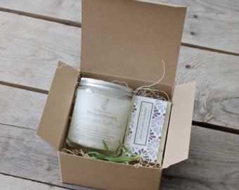 Small Spa Gift Set with skin healing salve & by LittleFlowerSoapCo