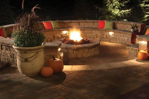 sunken fire pits | LandscapeOnline.com :: Article : LC June 2012 - A Mountain Retreat in ...