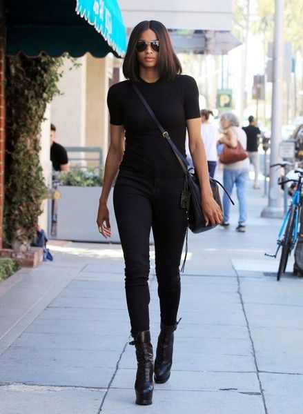 Singer Ciara is spotted out for a stroll in Beverly Hills, California on August 31, 2015. Ciara, who attended the 2015 MTV VMAs last night, was rocking an all black ensemble during her outing.