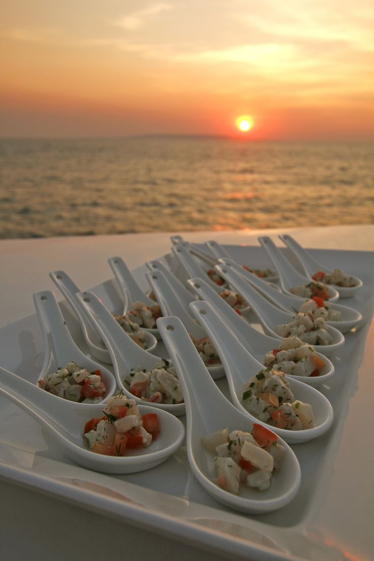 True North Cuisine Canapes Sunset