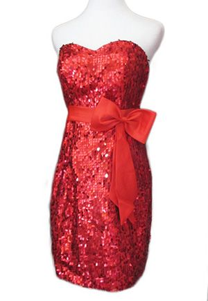 Sexy strapless red sequins evening dress #women #dress #hot #fashion #spring #trending #designer