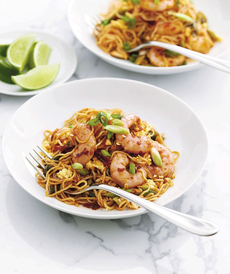 Not many suppers are faster than a stir-fry and this prawn noodle recipe scores just as highly on taste.